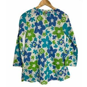 Mini Boden Girls Floral Long Sleeve Shift Dress